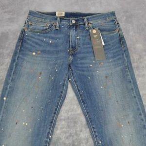 Levis Mens 511 Slim Paint Splatter Jeans